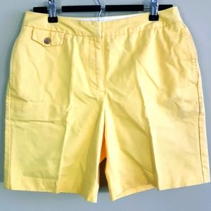 Lands End | sunny yellow 100% cotton shorts